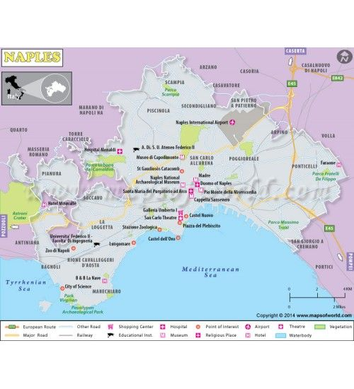 Buy Naples Map From Online Map Store Naples Map City Maps Naples
