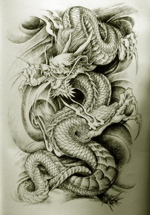 awesome but weird oriental dragon tattoo designs tattoo. Black Bedroom Furniture Sets. Home Design Ideas