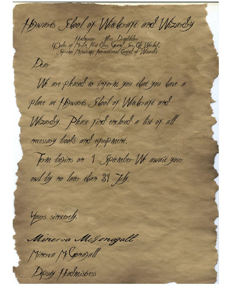 30++ Hogwarts acceptance letter template microsoft word ideas