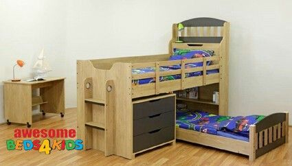 Bunk Bed For Boys Draws And Desk Separate Boys Bedroom In 2018