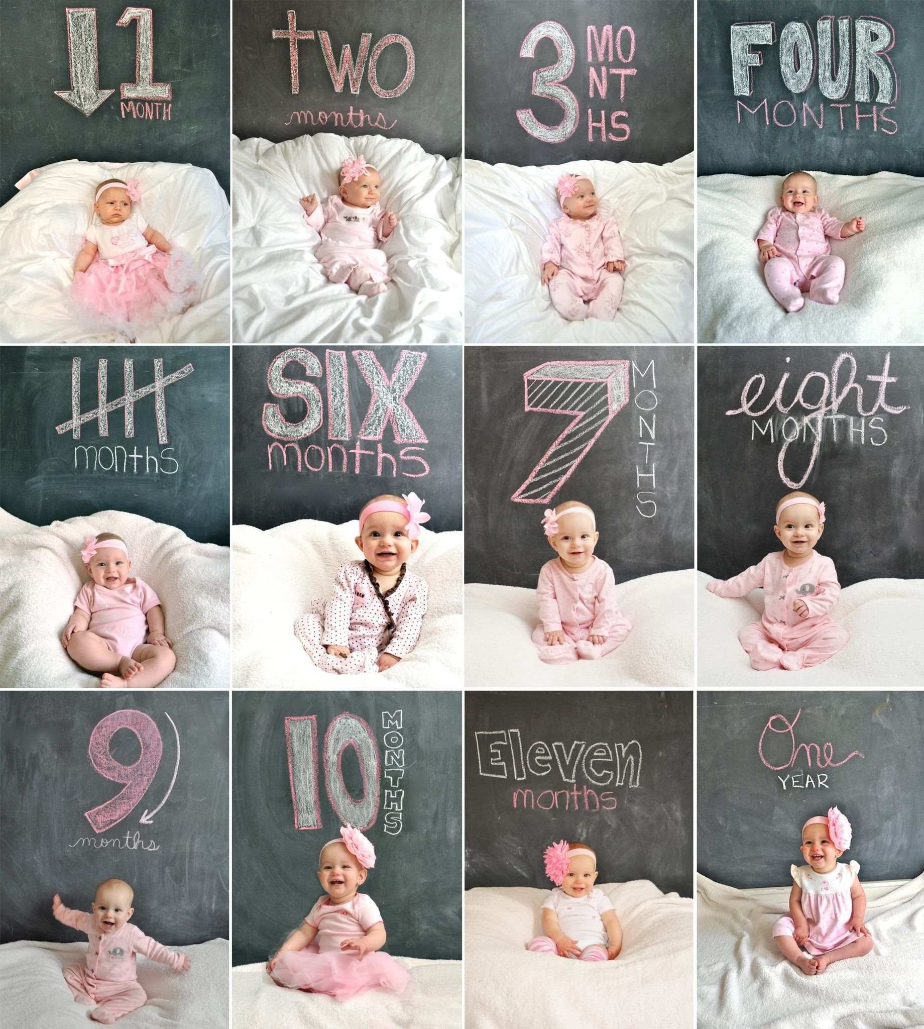 Pin By Summer Goddard Simple Life By On Kids Monthly Baby Photos Baby Month By Month Monthly Baby Pictures