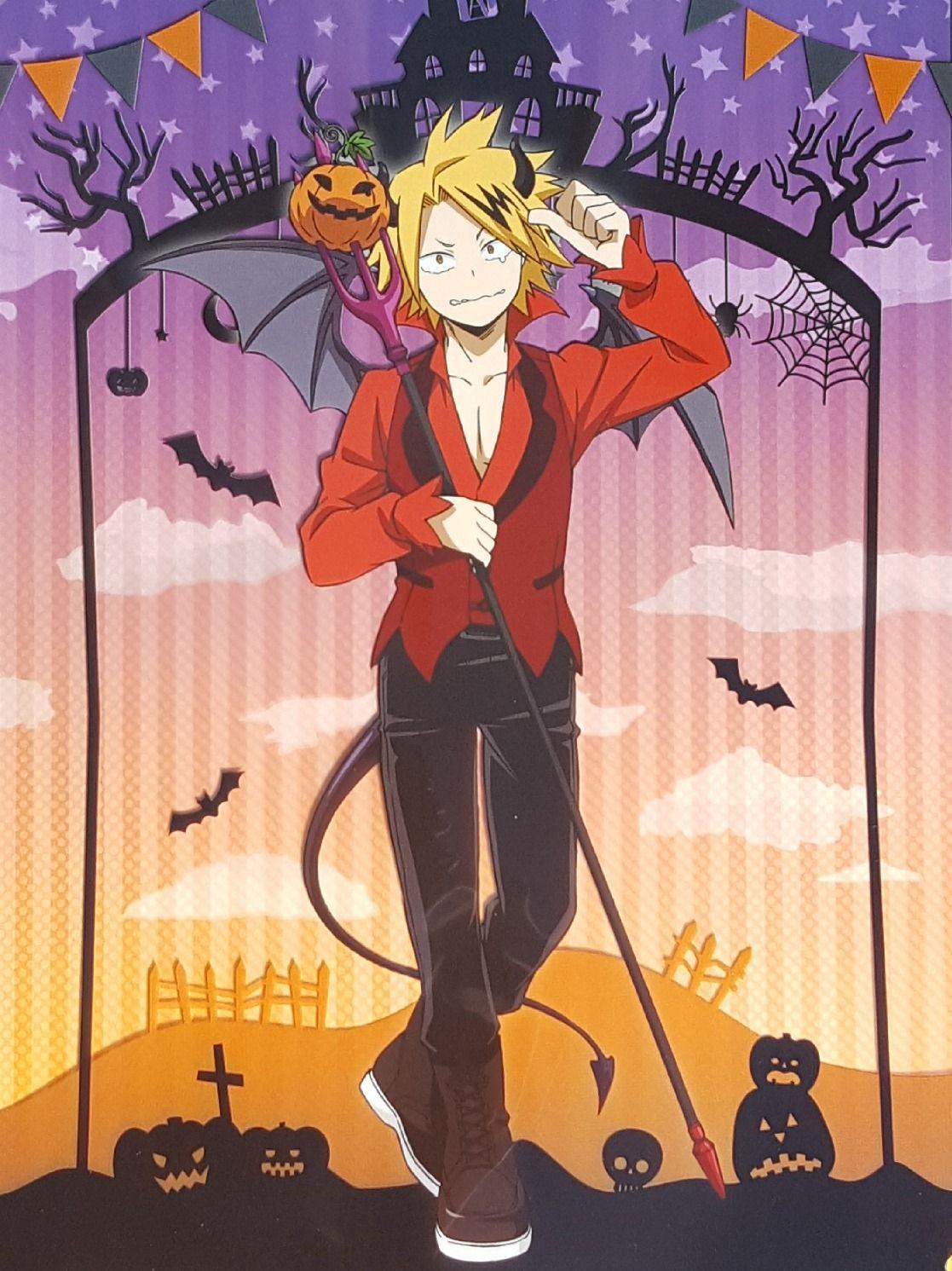 Denki Kaminari Halloween My Hero Academia Human Pikachu Hero Wallpaper Anime Halloween