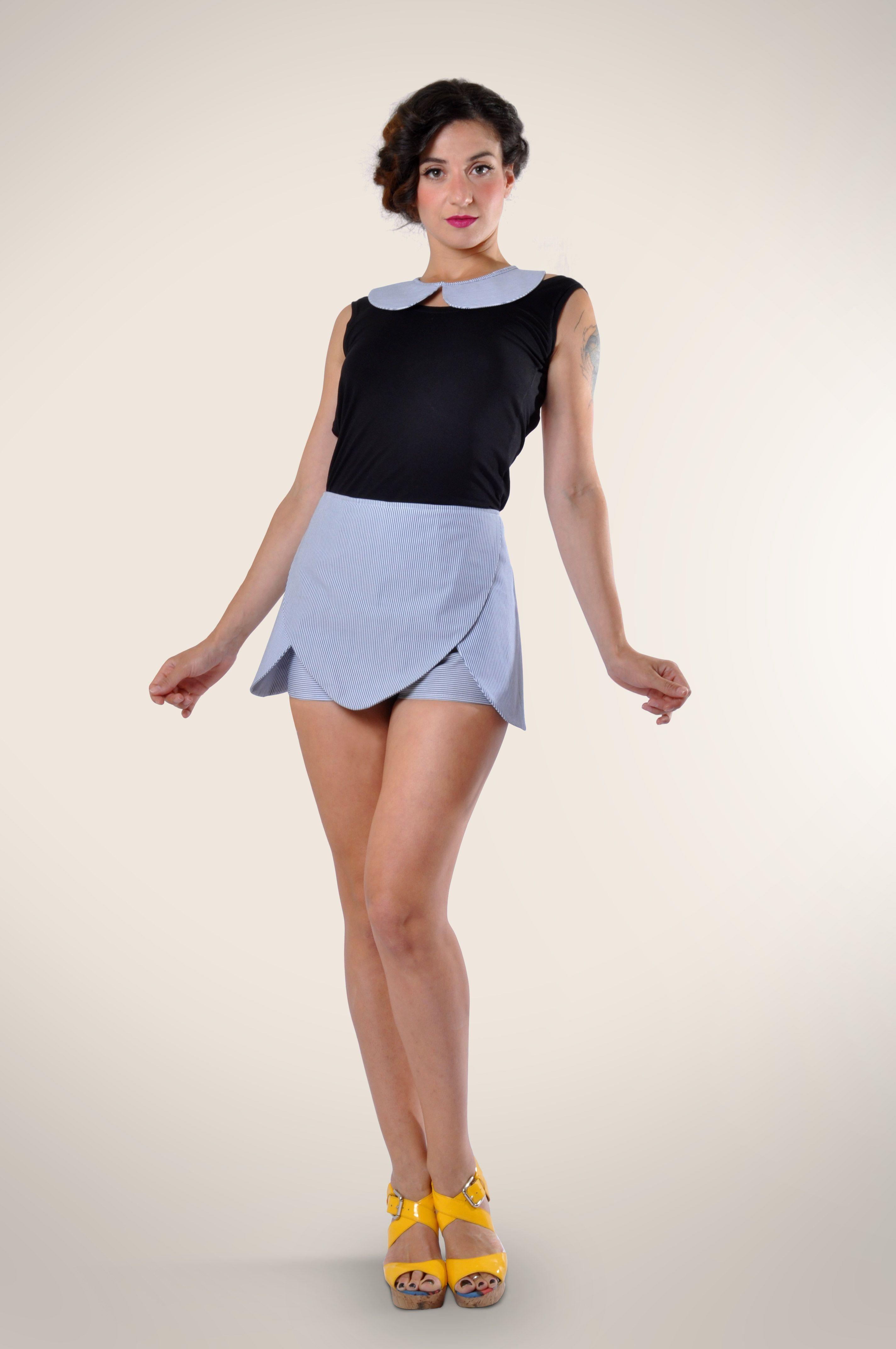 #lemoutonbleu #handmade #clothing #shorts #stipes #peterpan #stylish #summer #highwaist