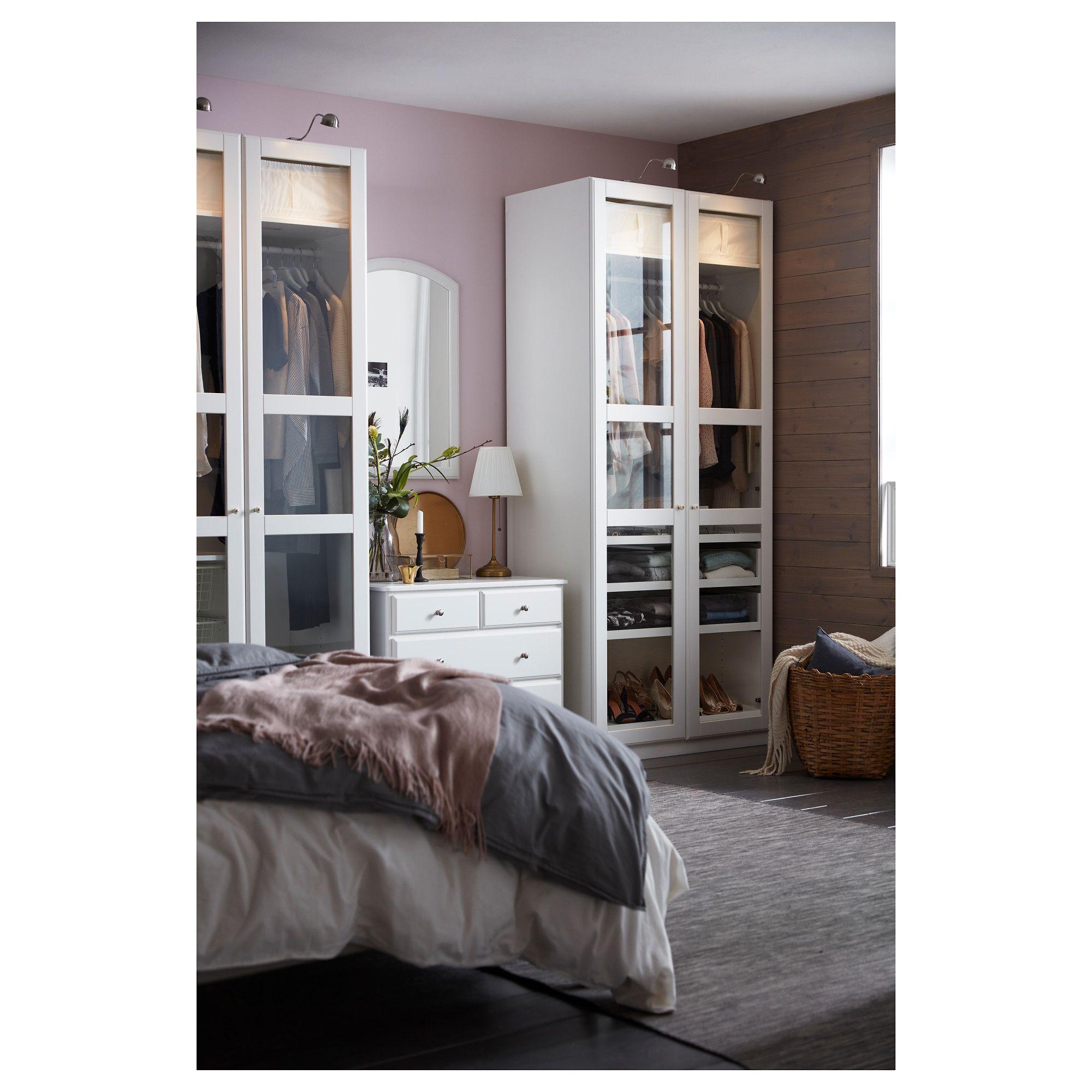 Zupełnie nowe IKEA - PAX Wardrobe white, Tyssedal glass in 2019 | our master DS18