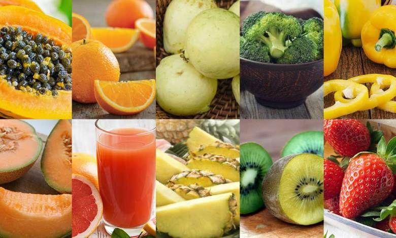مصادر فيتامين C اعلى نسبة فيتامين سي Fruit Food Cantaloupe