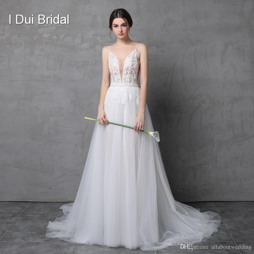 Cleavage Wedding Dress