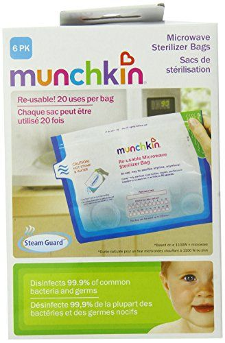 Munchkin Steam Guard Microwave Sterilizer Bags, 6 Pack, White Munchkin http://www.amazon.com/dp/B002LTT65I/ref=cm_sw_r_pi_dp_JRDUub0JHDAYG