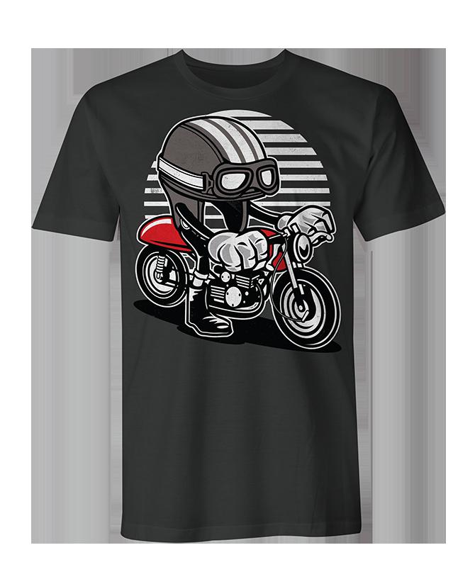 caferacer helmet Mens & Womens T Shirt - Black / XXL / Mens