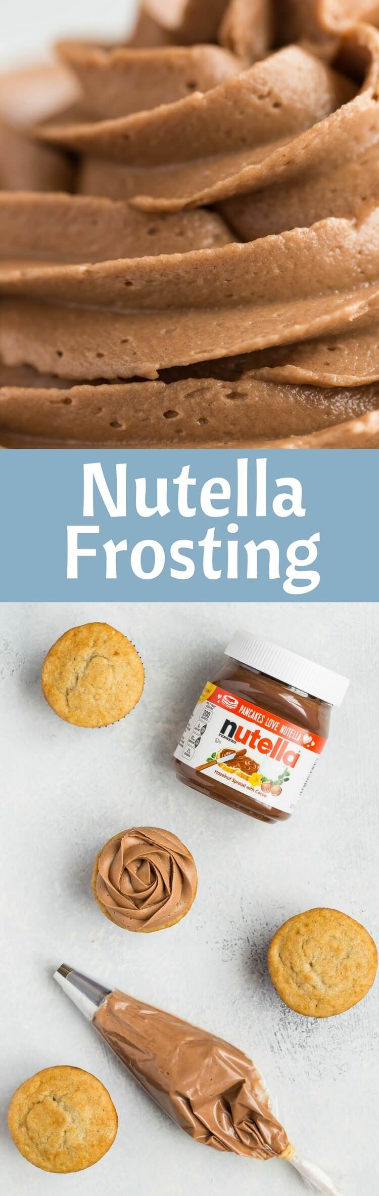 Nutella Frosting Recipe | Easy | Frosting | Made from Scratch | Homemade via @introvertbaker