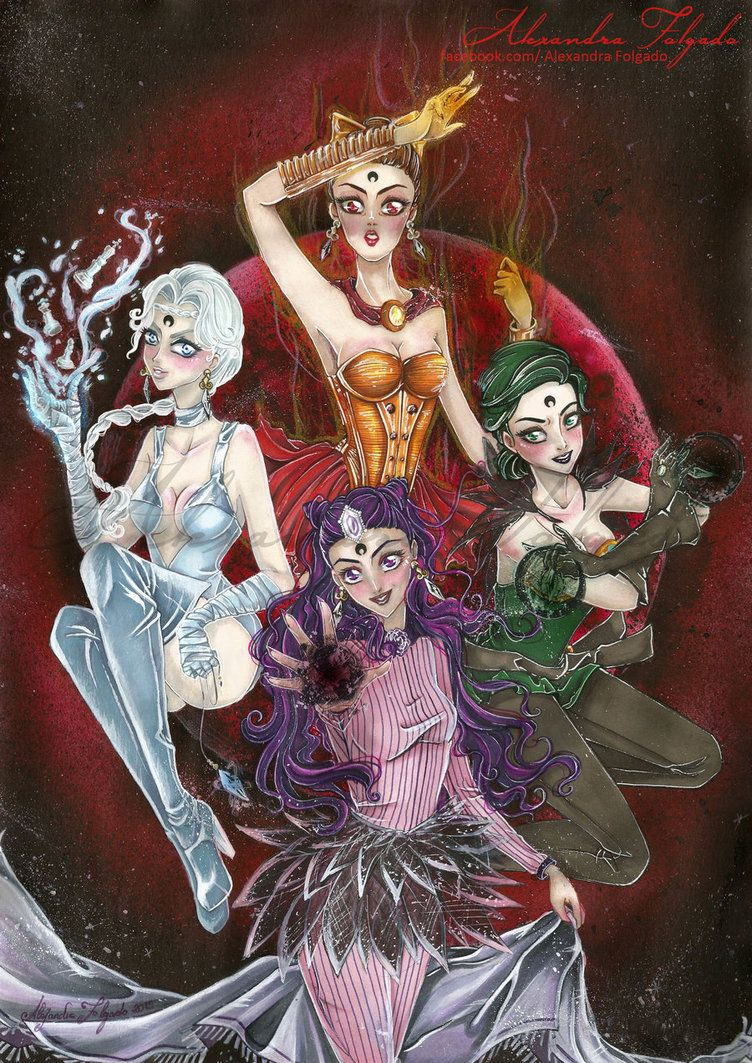 Ayakashi sisters - Black moon Clan by AlexandraFolgado on DeviantArt