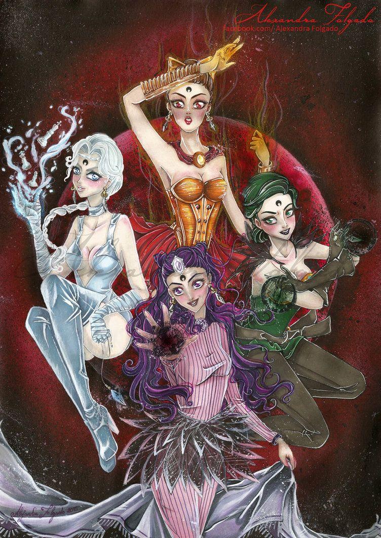 Ayakashi sisters - Black moon Clan by AlexandraFolgado on DeviantArt