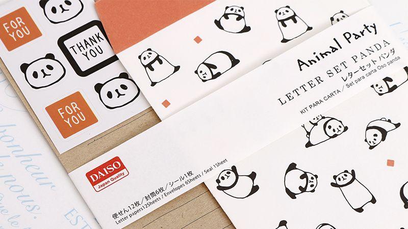 《Animal Party》信紙組/熊貓 | DAISO 大創線上購物