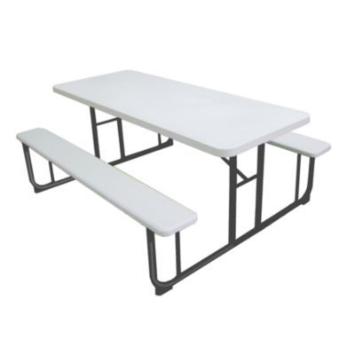 Sunny Point Picnic Table With Two Benches 6 Ft
