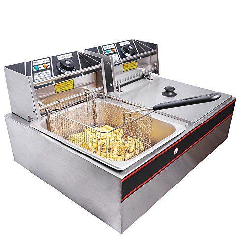 Generic 5000w 12 Liter Electric Countertop Deep Fryer Dua Electric Deep Fryer Commercial Deep Fryer Electric Fryer