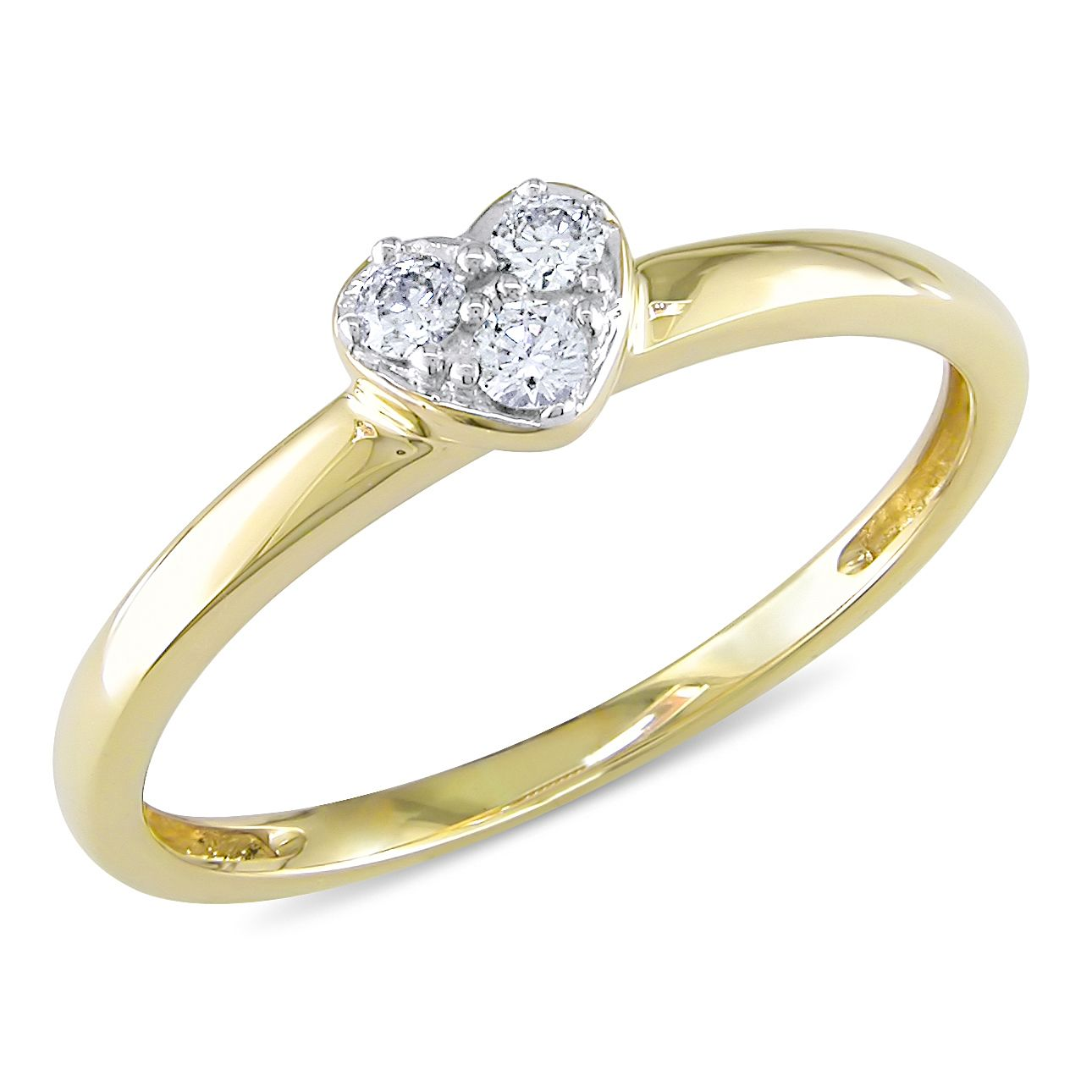 10ct Tdw Diamond Heart Promise Ring By Miadora