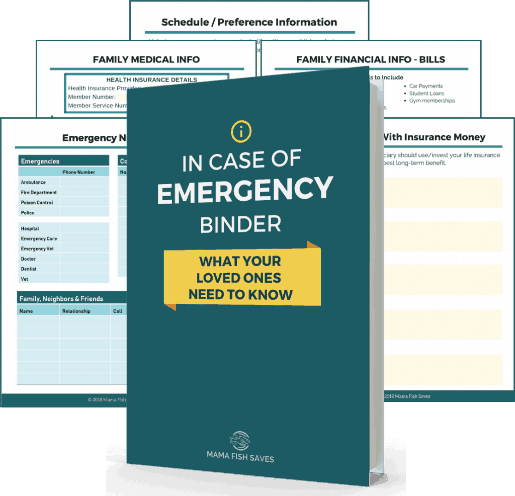 Family Financial Emergency Binder Everything You Need With