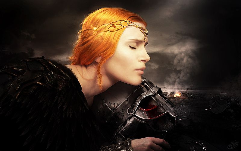 """In Norse mythology, a valkyrie (from Old Norse valkyrja ""chooser of the slain"") is one of a host of female figures who decide which soldiers die in battle and which live. Selecting among half of t..."