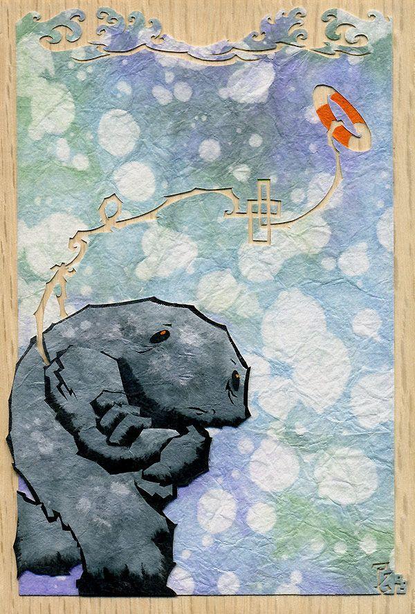 Cut paper art from Patrick Gannon