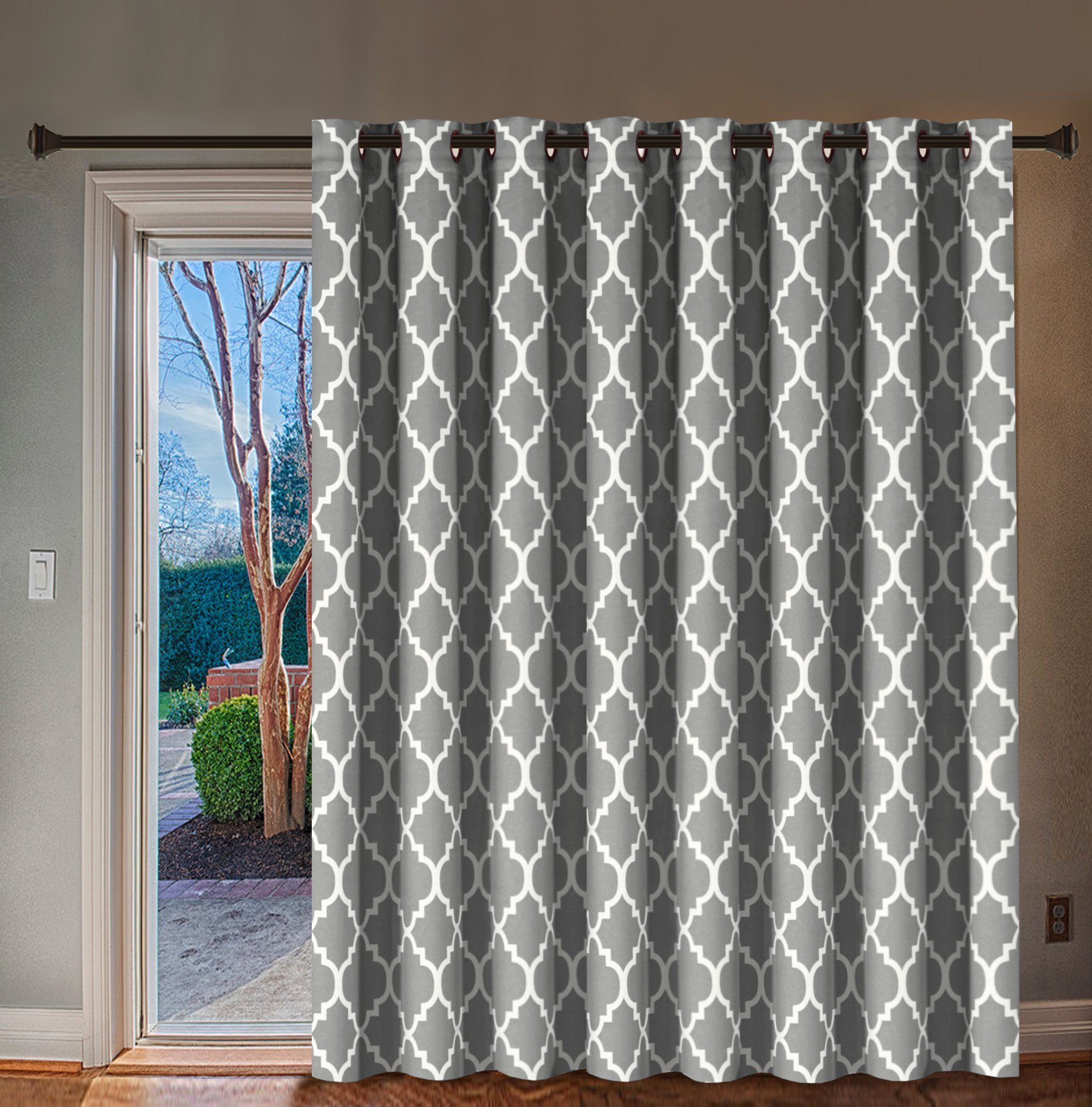 H Versailtex Blackout Printed Curtains Extra Long And Wide Thermal Insulated Panels Grommet Wider Curtain Sliding Door Curtains Patio Door Curtains Patio Doors