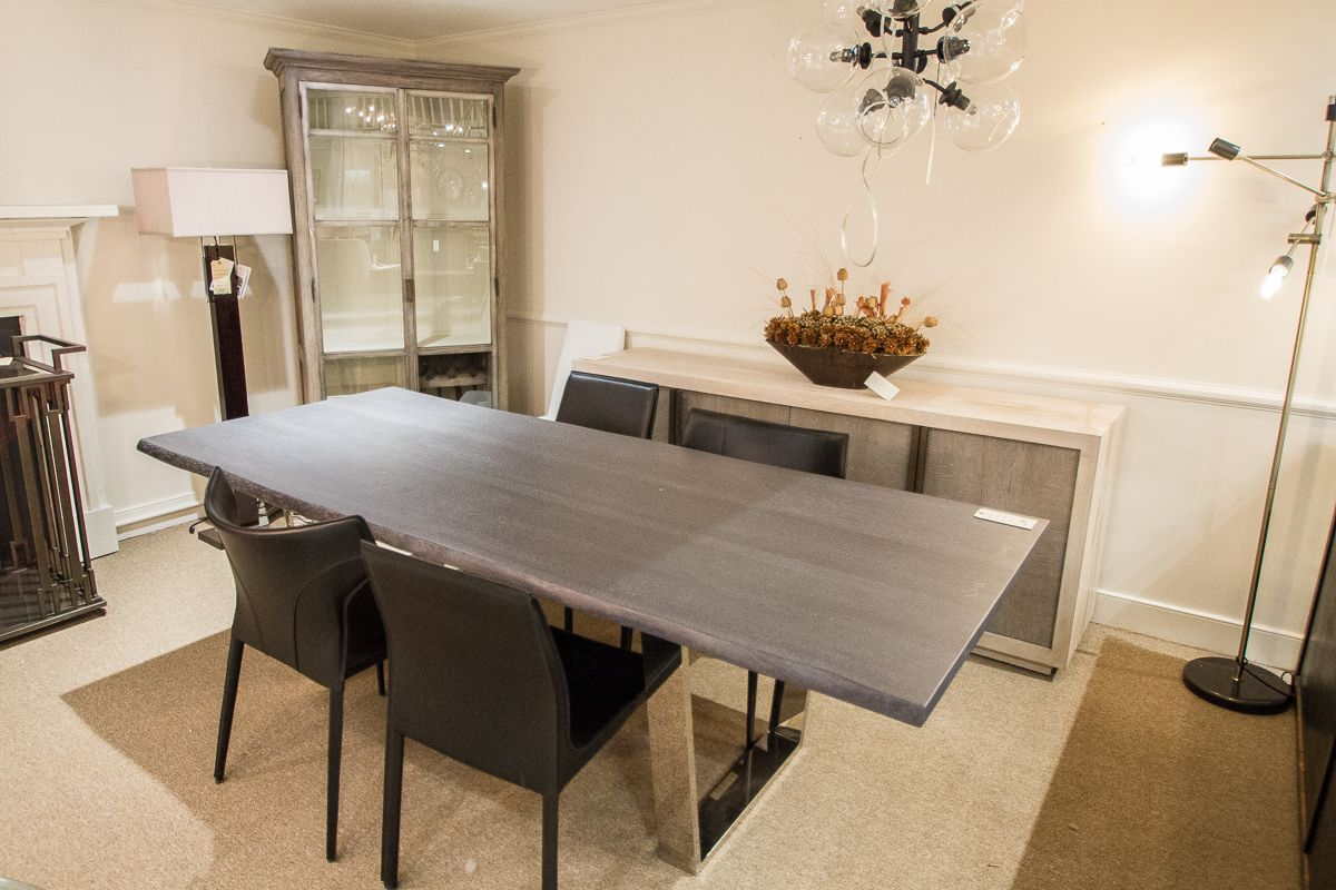 Nuevo Toulouse Dining Table W Oxidized Oak Top 96 Wx40d