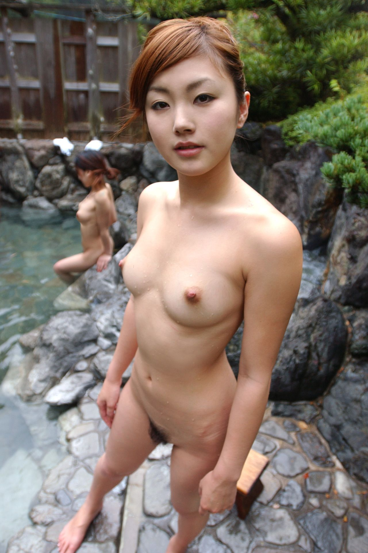 Beautiful Japanese Girl Nude Taking A Bath At An Onsen -6041