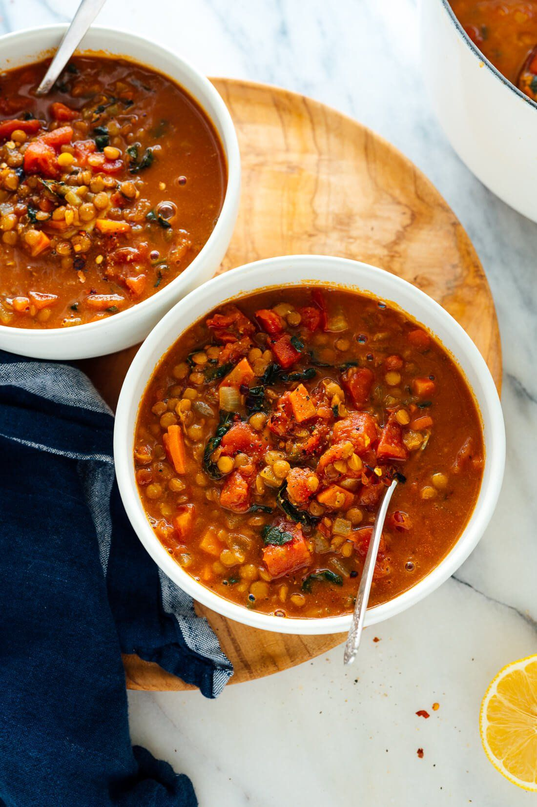 Best Lentil Soup This hearty lentil soup recipe can be as spicy (or not) as you want it to be! With over 500 five-star reviews, this recipe is sure to become your favorite lentil soup!
