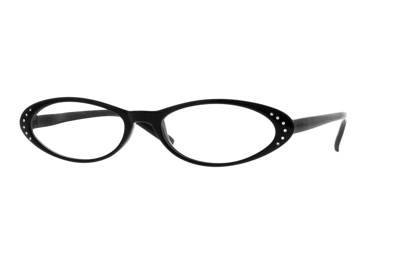 Zenni Womens Oval Prescription Eyeglasses Black Plastic 15223621 ...