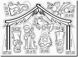 Resultado De Imagen Para Recortar Y Armar Preescolar Nativity Coloring Pages Christmas Colors Nativity Coloring