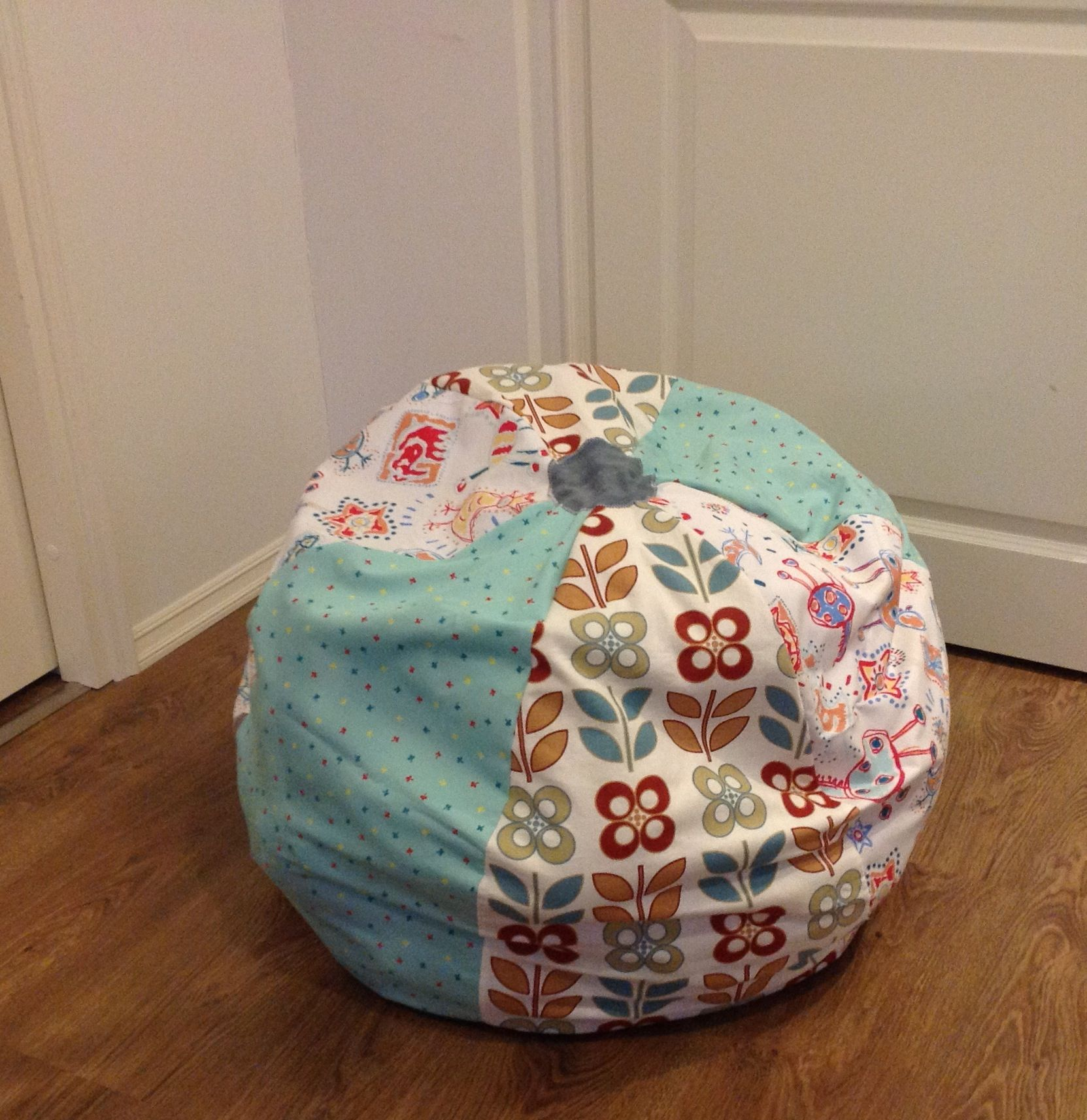 DIY Stuffed Animal Storage With A Zipper Eg Bean Bag Chair By LeenaH