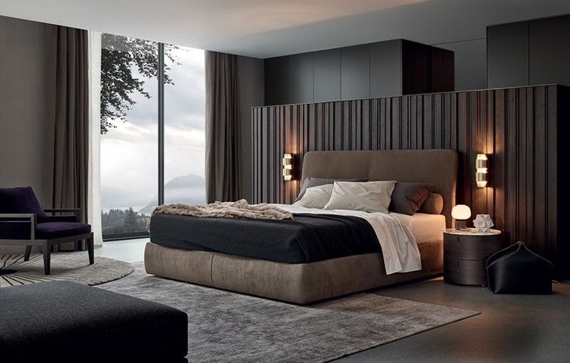 20 modern contemporary masculine bedroom designs modern for Designer bed pics