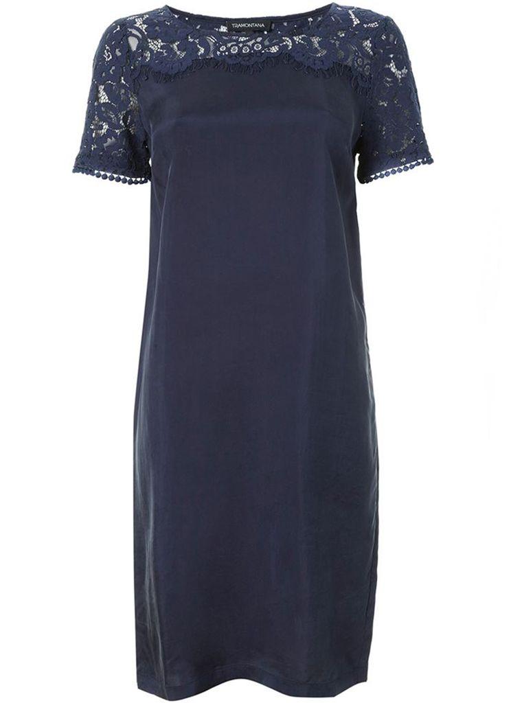 6f66ca1efa0d60 Tramontana C05-84-501 DRESS LACE MIX MATCH Jurk 5030 dark blue Description