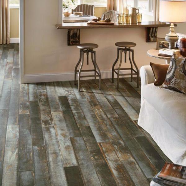 Azure Sea Blue Gray Pryzm Rigid Core Wood Laminate Flooring