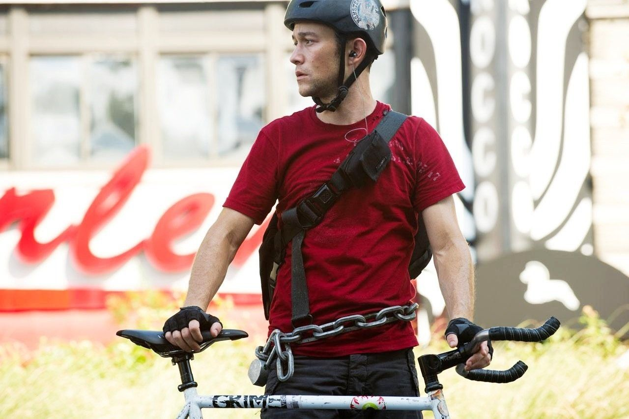 Joseph Gordon Levitt In Premium Rush A Film About A Bike Courier