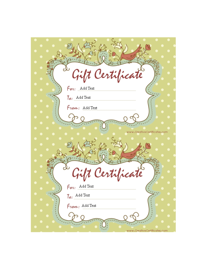sample gift certificate how to create a gift certificate download