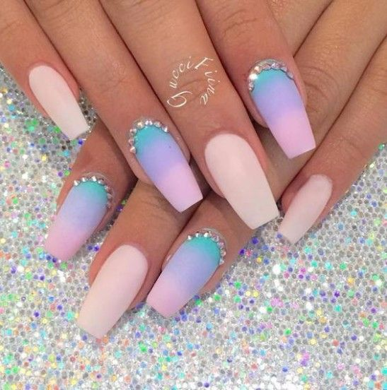 90 Beautiful Unique Trendy Nail Designs 2017 Pink Nails Nails
