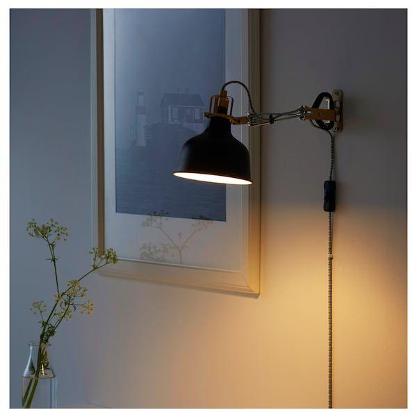 RANARP Wallclamp spotlight black IKEA in 2020 | Wall