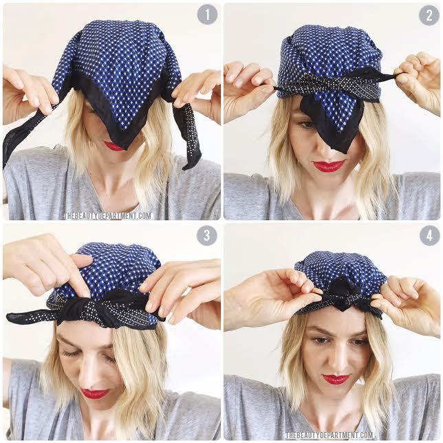 Two Ways To Tie A Headscarf Bandana Hairstyles Short Hair Scarf Styles Scarf Hairstyles