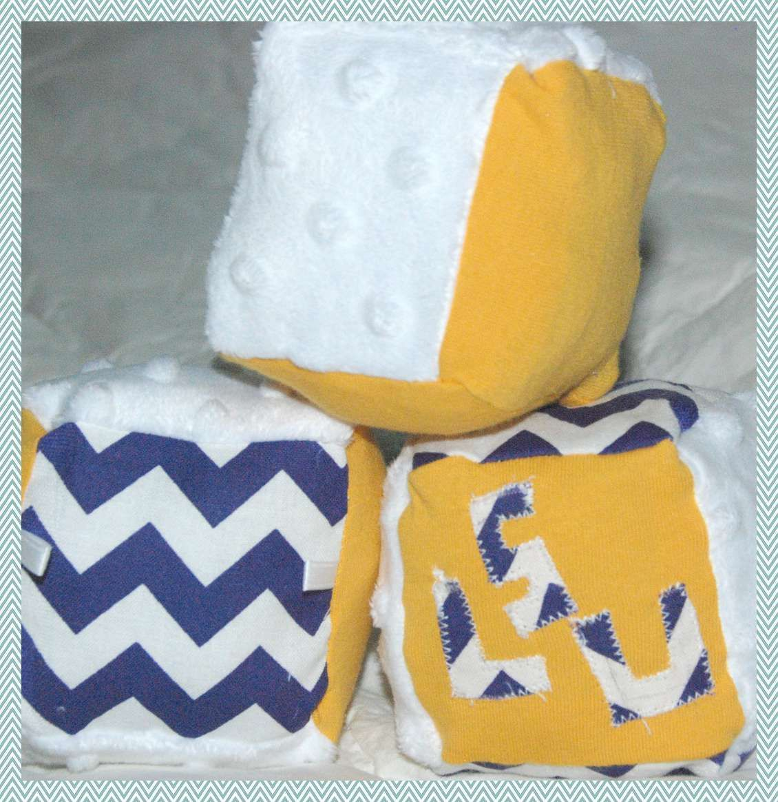 Lsu soft blocks different textures and they contain bells for