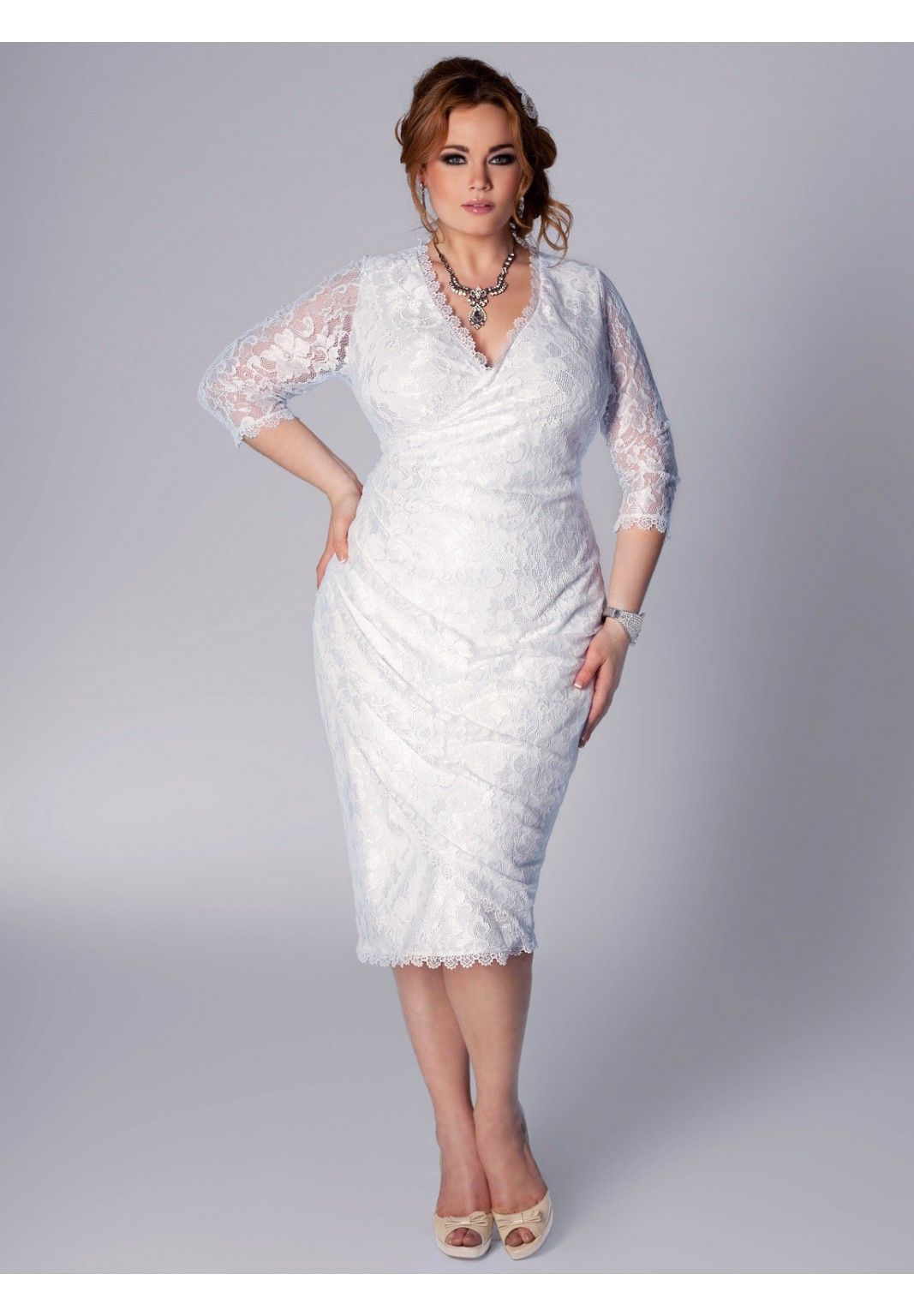 Gisela wedding dress plus size igigi by yuliya raquel for Dresses for registry office wedding