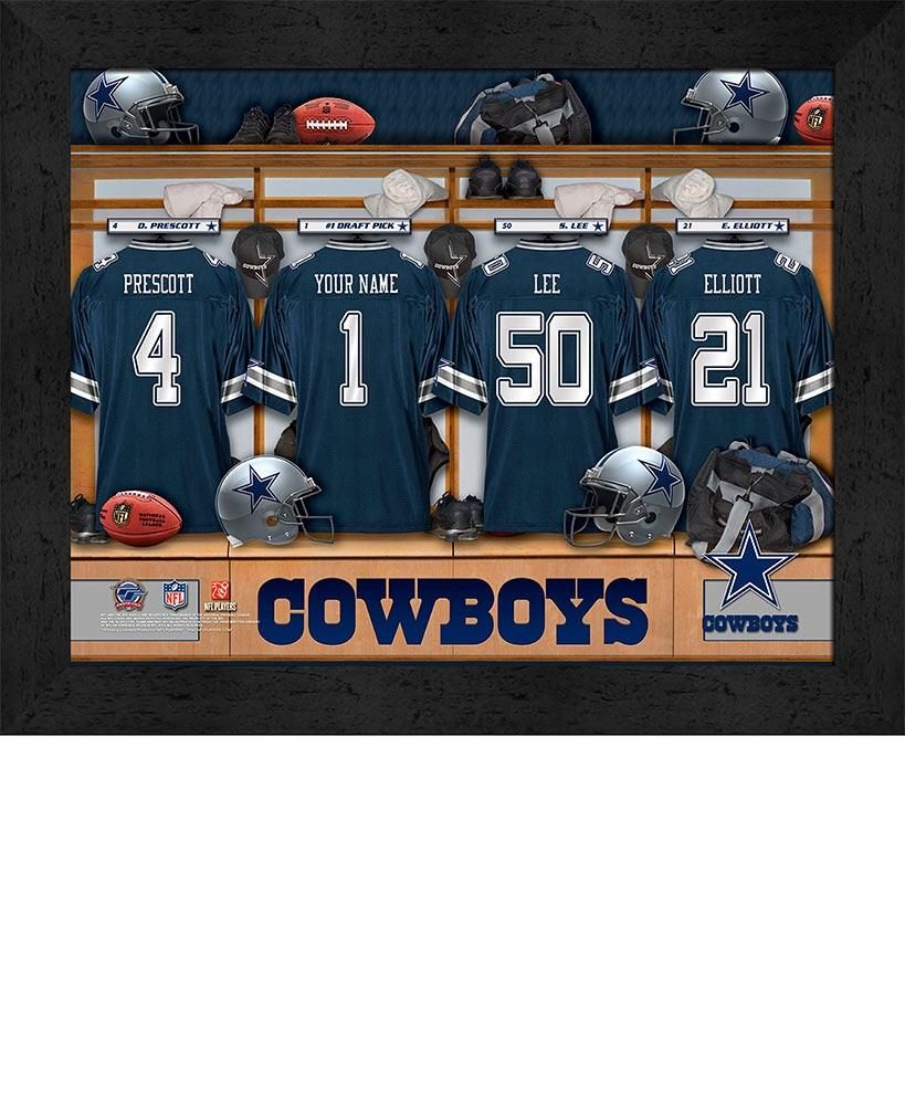 8b4df1c6b Personalized NFL Locker Room Prints
