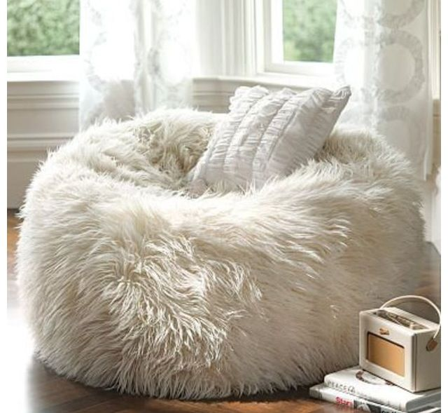 Fuzzy Bean Bag Chair From Pb Teen Brads Room Bean Bag