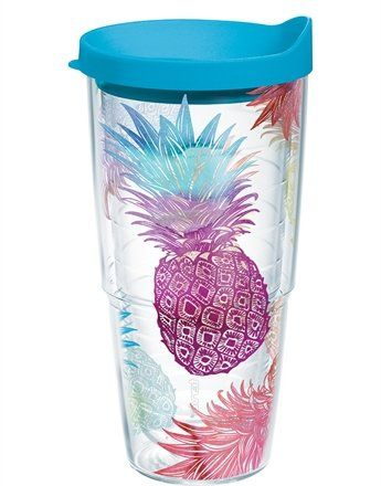 c26cb9a13e9 Tervis Tumbler Watercolor Pineapples Wrap 24oz with Travel Lid Tervis  http://www.