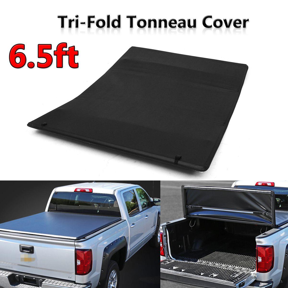 Tonneau Cover Soft Tri Fold For Chevy For GMC Sierra