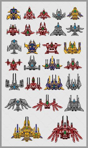 Space Shooter Sprite Kit 1 #Shooter#Space#Sprite# ...