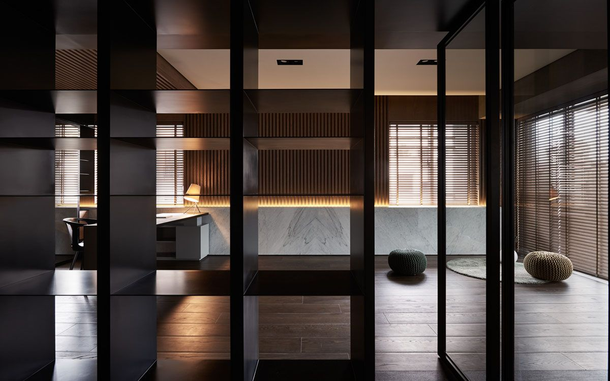 office interior colors. Sophisticated Modern Design Apartment With Dark Color Concept Nuance. InteriorsOffice Office Interior Colors R