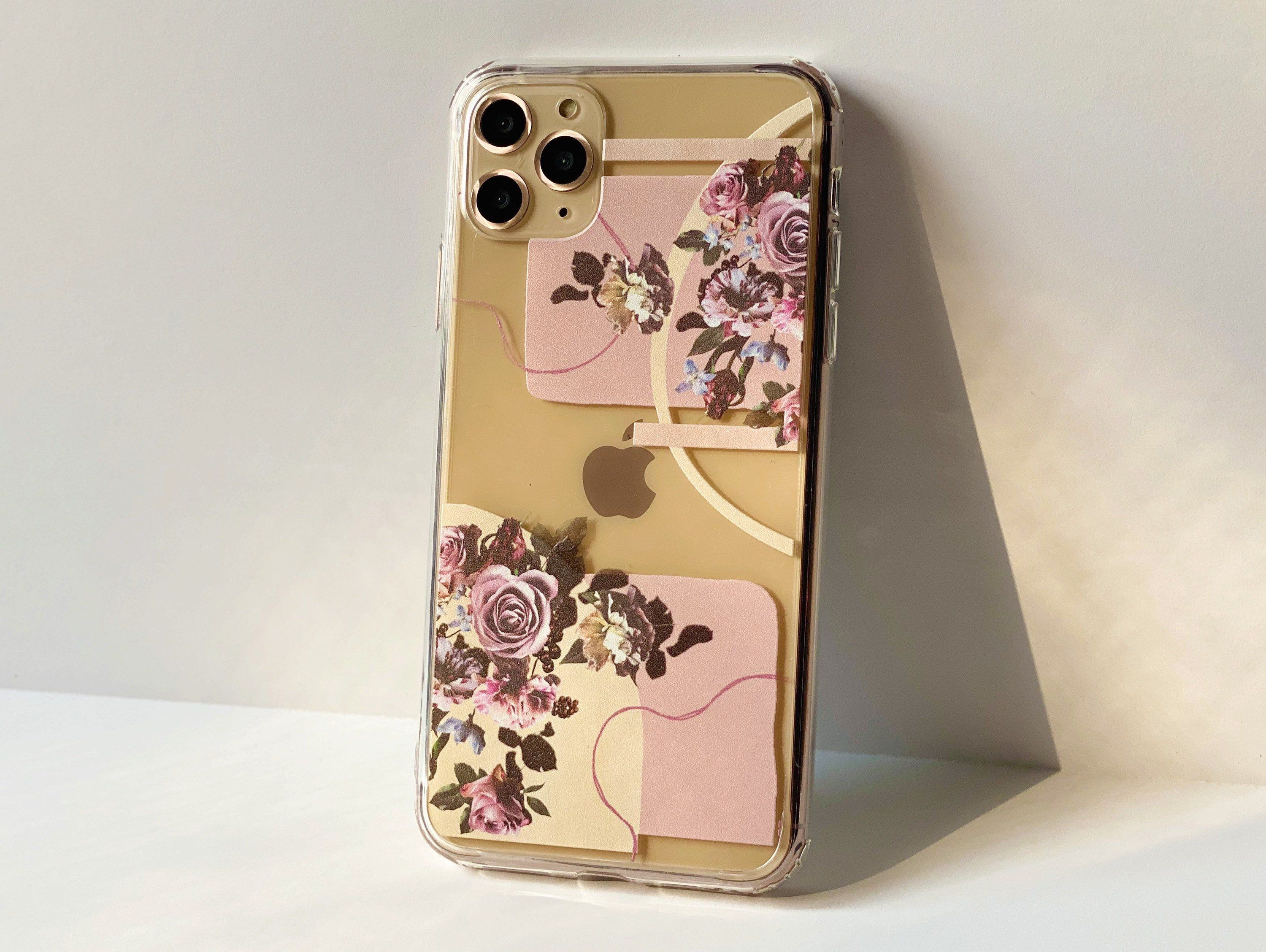 Floral phone case for iphone 12 11 pro max xs x xr 7 8