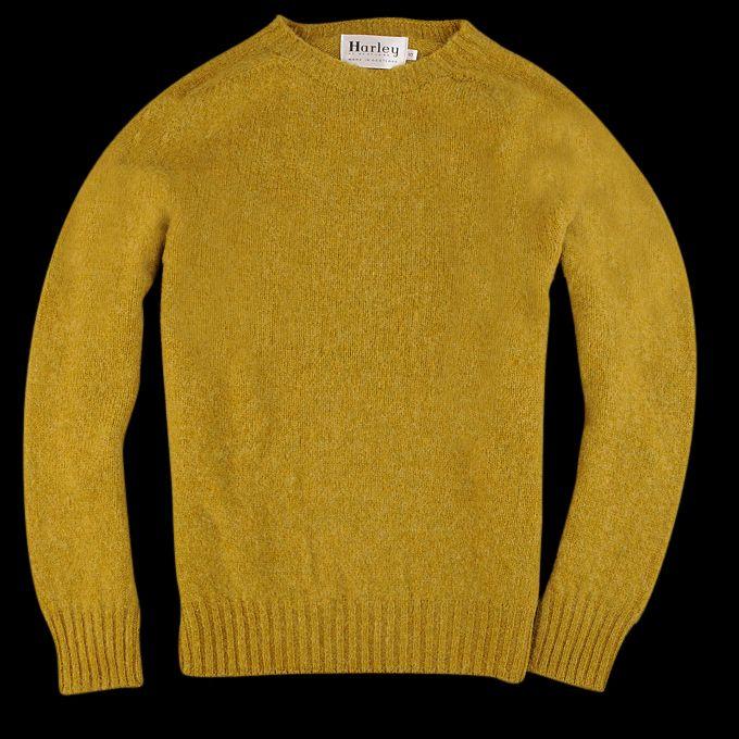 UNIONMADE - Harley of Scotland - Shaggy Brushed Shetland Sweater ...