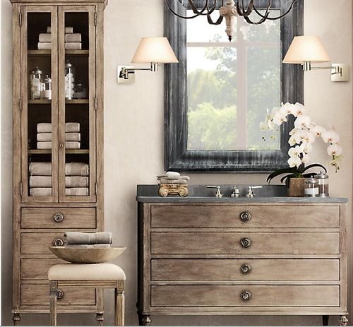 Maison Single Extra-Wide Vanity With Drawers | Restoration ...