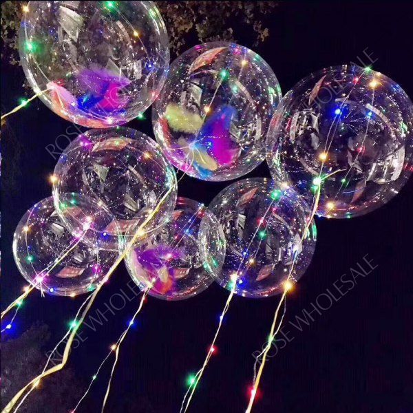 Bobo Balloon LED String Light for Christmas Party Decor - 3 x AA