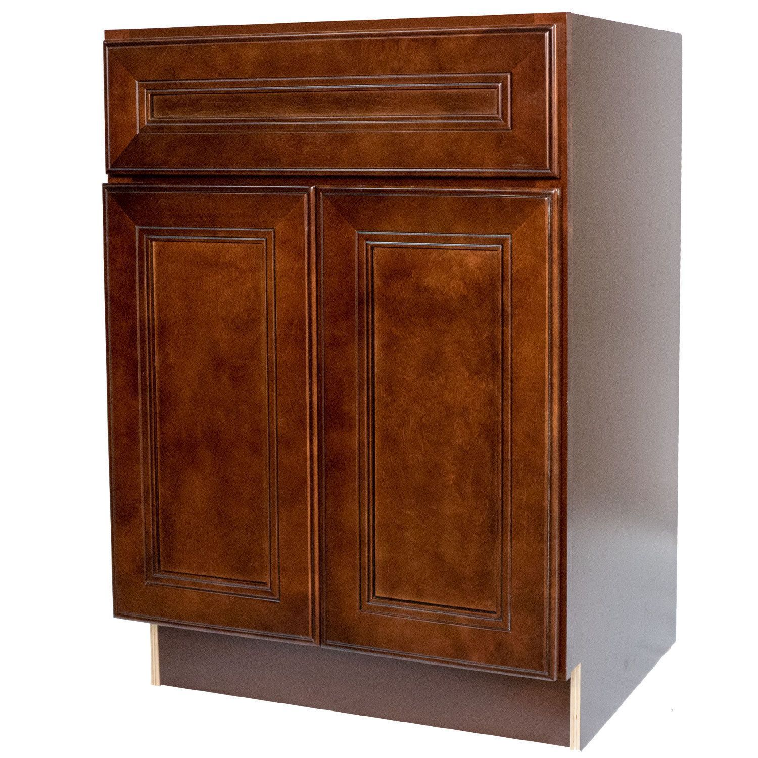 Everyday Cabinets Leo Saddle Cherrymahogany 30Inch Bathroom Mesmerizing Cherry Bathroom Vanity Design Inspiration